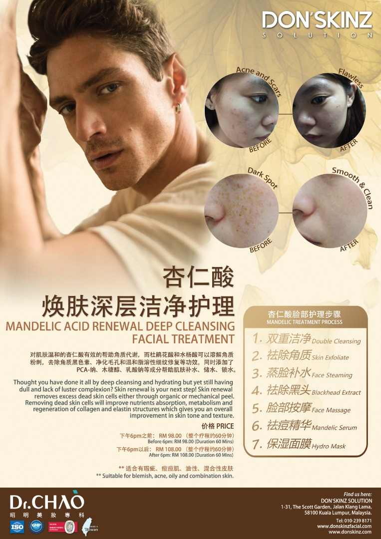 MANDELIC ACID RENEWAL DEEP CLEANSING FACIAL TREATMENT